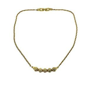 Swarovski Gold Chain Rhinestone Necklace
